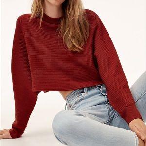 Wilfred 2 nwot maroon sweater